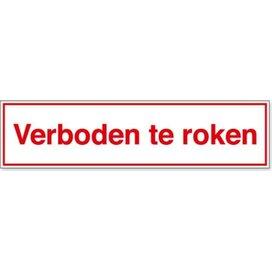 Verboden Te Roken (sticker)