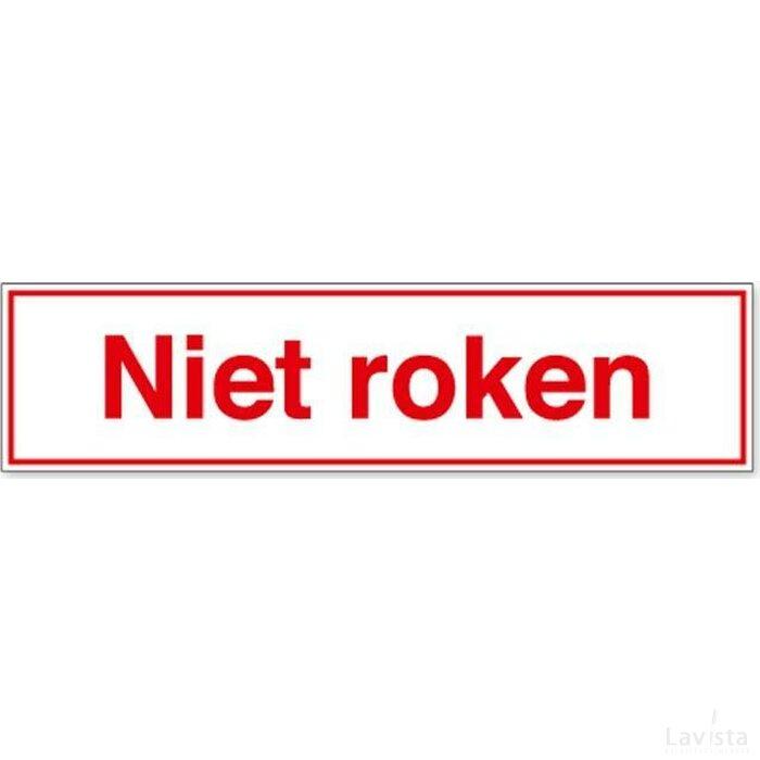 Niet Roken (Sticker)