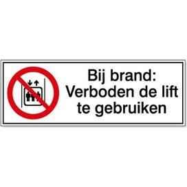 Verboden De Lift Te Gebruiken In Geval Van Brand (sticker)