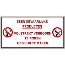 Zeer Gevaarlijke Producten. Volstrekt Verboden Te Roken Of Vuur Te Maken (Sticker)