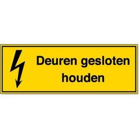 Deuren Gesloten Houden (Sticker)