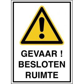 Gevaar! Besloten Ruimte (sticker)