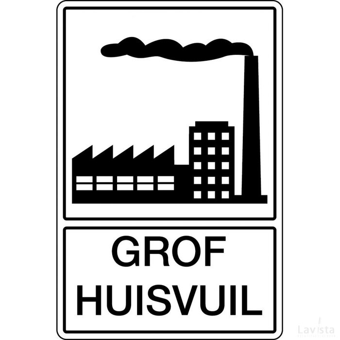 Grof Huisvuil (Sticker)
