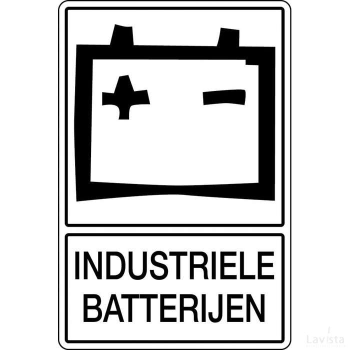 Industriële Batterijen (sticker)