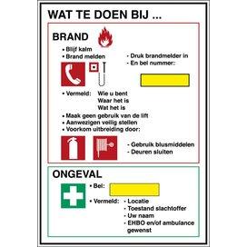 Calamiteitenbord - Wat Te Doen Bij... (sticker)